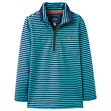 Buy Little Joule Boys' Junior Dale Stripe Top, Blue Online at johnlewis.com