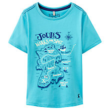 Buy Little Joule Boys' Ray Glow In The Dark Map T-Shirt Online at johnlewis.com
