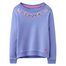 Buy Little Joule Girls' Embellished Sweatshirt Online at johnlewis.com