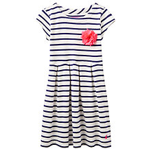Buy Little Joule Girls' Stripe Dress, Navy Online at johnlewis.com
