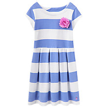 Buy Little Joule Girls' Jersey Stripe Dress, Lavender/White Online at johnlewis.com