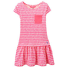 Buy Little Joule Girls' Bunting Print Dress, Pink Online at johnlewis.com