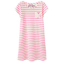 Buy Little Joule Girls' Stripe Floral Jersey Dress, Pink Online at johnlewis.com