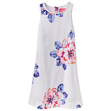 Buy Little Joule Girls' Woven Floral Print Dress, White Online at johnlewis.com