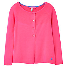Buy Little Joule Girls' Cardigan, Pink Online at johnlewis.com