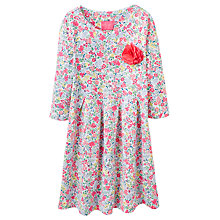 Buy Little Joule Girls' Floral Jersey Dress With Corsage, Pink/White Online at johnlewis.com