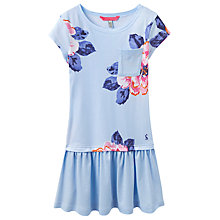 Buy Little Joule Girls' Floral Drop Waist Dress, Blue Online at johnlewis.com