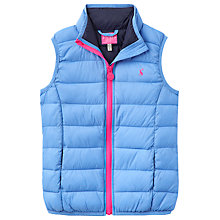 Buy Little Joule Girls' Pack Away Gilet, Blue Online at johnlewis.com