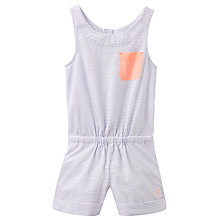 Buy Little Joule Girls' Stripe Woven Playsuit, Lavender Online at johnlewis.com