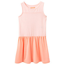 Buy Little Joule Girls' Stripe Drop Waist Jersey Dress, Coral Online at johnlewis.com