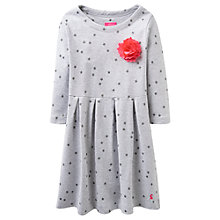 Buy Little Joule Girls' Glitter Star Jersey Dress, Grey Online at johnlewis.com