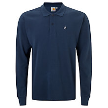 Buy Carhartt WIP Patch Long Sleeve Polo Shirt, Blue Online at johnlewis.com