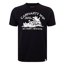 Buy Carhartt WIP Detroit Junkyard Print T-Shirt, Black Online at johnlewis.com