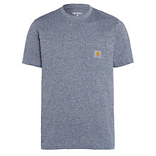 Buy Carhartt Short Sleeve Pocket T-Shirt, Blue Noise Heather Online at johnlewis.com