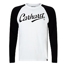 Buy Carhartt WIP League Long Sleeve T-Shirt, White/Black Online at johnlewis.com