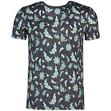 Buy Ted Baker Bishy Leaf Print T-shirt, Navy Online at johnlewis.com