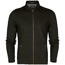 Buy Ted Baker Pypa Collared Jersey Jacket, Dark Green Online at johnlewis.com