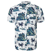 Buy Carhartt WIP Home Run Allover Print Short Sleeve Shirt, White Online at johnlewis.com