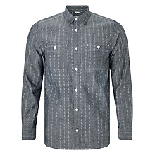 Buy Carhartt WIP Hobbs Heart Stripe Shirt, Indigo/White Online at johnlewis.com