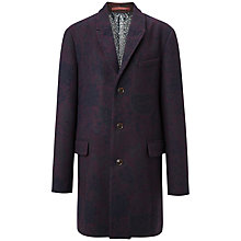 Buy Ted Baker Jacquer Floral Jacquard Coat, Dark Red Online at johnlewis.com