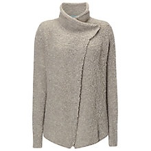 Buy White Stuff Boucle Petals Cardigan, Fog Grey Online at johnlewis.com