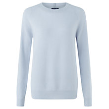 Buy Jigsaw Cashmere James Crew Sweater, Airforce Blue Online at johnlewis.com