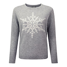 Buy Pure Collection Snowflake Jumper, Heather Dove Online at johnlewis.com