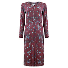 Buy Jigsaw Smudge Bloom Silk Midi Dress, Multi Online at johnlewis.com