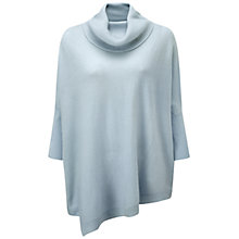 Buy Pure Collection Napier Cashmere Poncho, Ice Blue Online at johnlewis.com