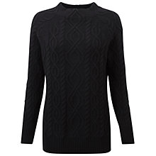 Buy Pure Collection Adams Funnel Neck Jumper, Black Online at johnlewis.com