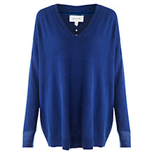 Buy Jigsaw Sheer Cuff Slouchy Sweater, Blue Online at johnlewis.com