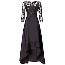 Buy Adrianna Papell Sequin Illusion Taffeta Gown, Black Online at johnlewis.com