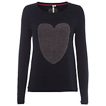 Buy White Stuff Ladybug Heart Jumper, Dark Denim Online at johnlewis.com