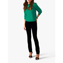 Buy Pure Collection Pascoe Wash Velvet Jeans, Black Online at johnlewis.com