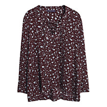 Buy Violeta by Mango Floral Print Blouse, Dark Red Online at johnlewis.com