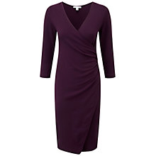 Buy Pure Collection Banbury Wrap Dress, Blackcurrant Online at johnlewis.com