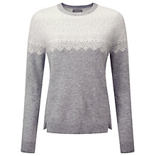 Buy Pure Collection Cashmere Ralston Jumper, Heather Dove Online at johnlewis.com