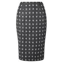 Buy Hobbs Carys Spot Pencil Skirt, Grey Multi Online at johnlewis.com