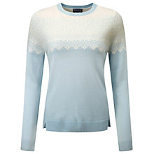 Buy Pure Collection Cashmere Fairisle Jumper, Ice Blue Online at johnlewis.com