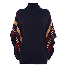 Buy Oasis Kim Stripe Poncho, Blue/Multi Online at johnlewis.com