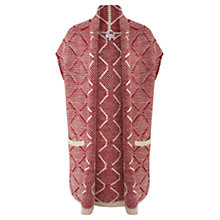 Buy Jigsaw Patterned Wool Cardigan, Red Online at johnlewis.com