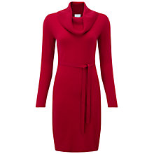 Buy Pure Collection Wakehurst Cowl Dress, Redcurrant Online at johnlewis.com