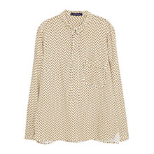 Buy Violeta by Mango Flowy Printed Blouse, Natural White Online at johnlewis.com