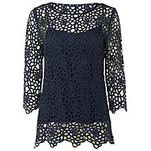 Buy White Stuff Caryn Top, Sapphire Online at johnlewis.com