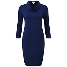 Buy Pure Collection Campden Cowl Neck Dress, Sapphire Online at johnlewis.com