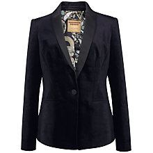 Buy Ted Baker Numia Velvet Suit Jacket, Mid Blue Online at johnlewis.com