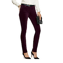 Buy Pure Collection Tarnwood Washed Velvet Jeans, Winter Berry Online at johnlewis.com
