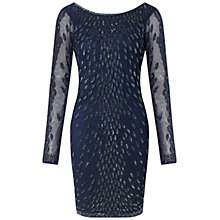 Buy Aidan Mattox Long Sleeve Beaded Cocktail Dress Online at johnlewis.com