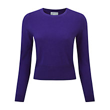 Buy Pure Collection Cashmere Backley Jumper, Rich Purple Online at johnlewis.com