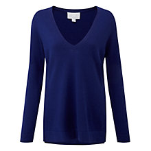 Buy Pure Collection Keble Cashmere Jumper, Deep Sapphire Online at johnlewis.com